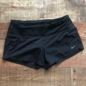 Nike run shorts size XS black drawstring